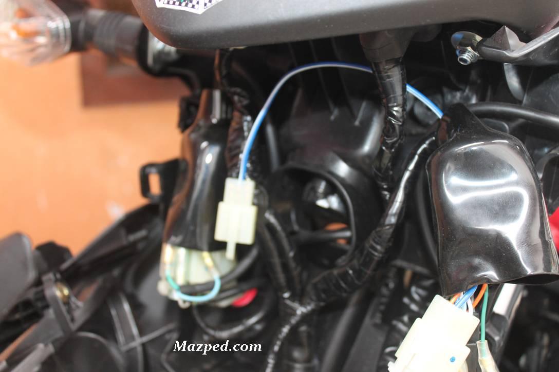 posisi kabel tambahan