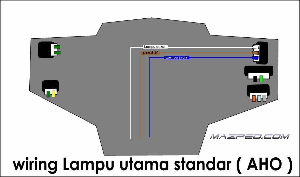 Beberapa cara bikin switch passing mazpedia pict di atas adalah wiring standar motor aho minus saklar lampu utama kalo mau pasang saklar lampu utama berikut saklar lampu senjanya silahkan simak asfbconference2016 Image collections