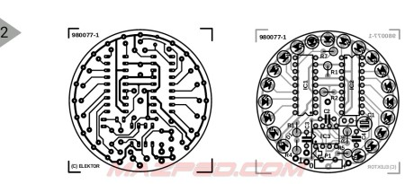 lay out pcb rpm led