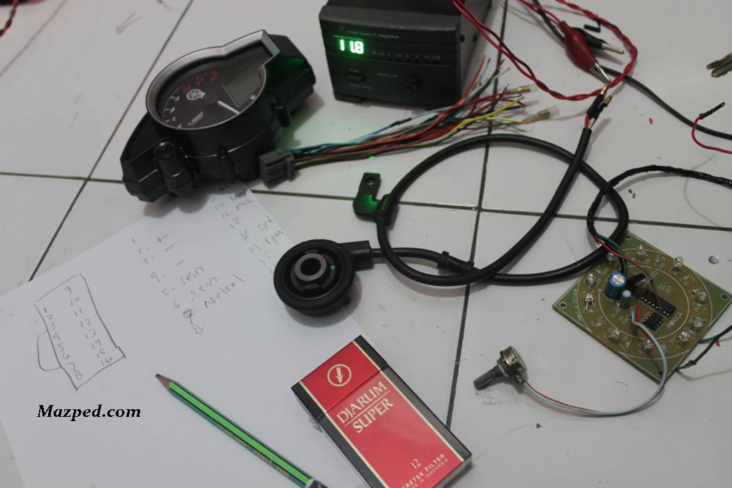 Wiring Diagram Spedometer Old Vixion